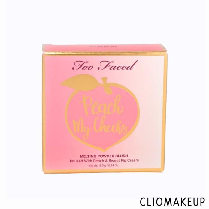 cliomakeup-recensione-blush-too faced-peach-my-cheeks-melting-powder-blush-2