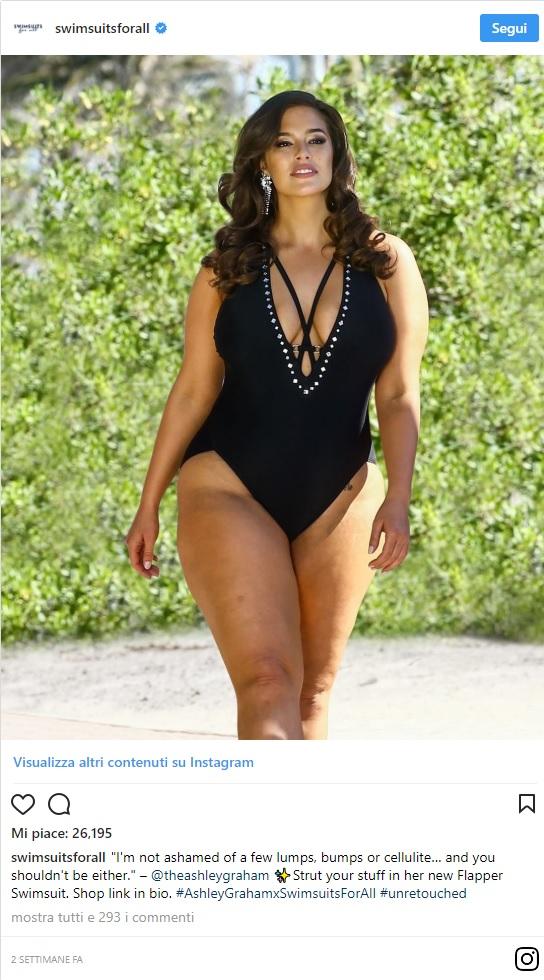 Ashley Graham posa in costume senza fotoritocco  tutte le foto e i ... 0b82c4f12d8