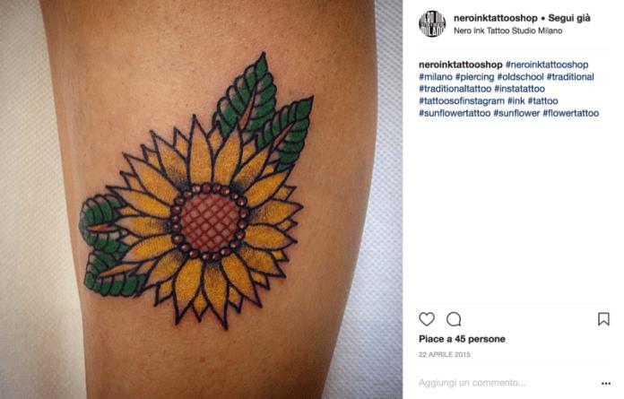 cliomakeup-tatuaggi-piccoli-femminili-estate-12-girasole