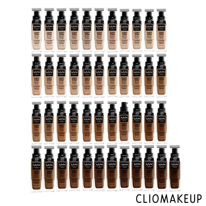 cliomakeup-recensione-fondotinta-nyx-cant-stop-wont-stop-3