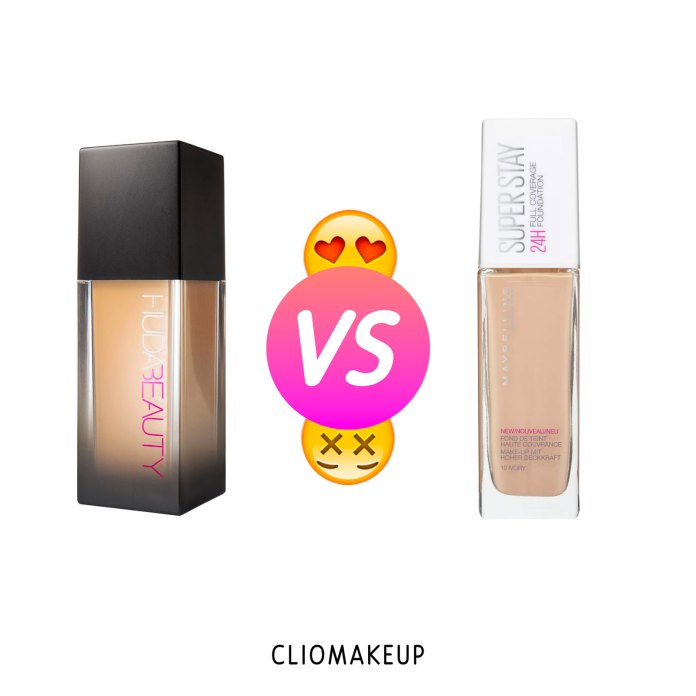 cliomakeup-recensione-dupe-huda-beauty-#faux-filter-high-coverage-cream-foundation-maybelline-superstay-24h-full-coverage-foundation—-1