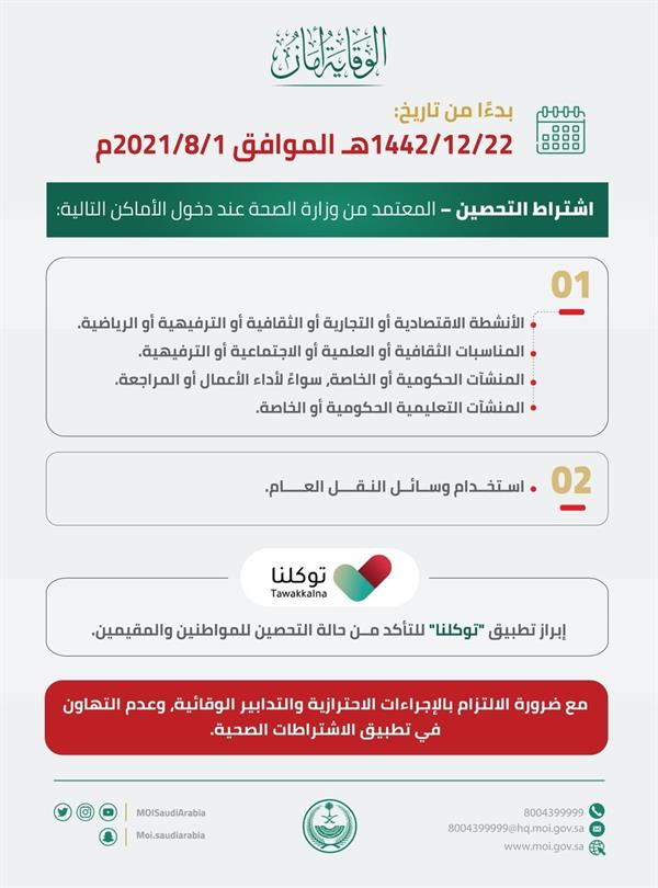 """""""interior"""" Reiterates the validity of the decision to require immunization to enter establishments and events and use public transportation"""