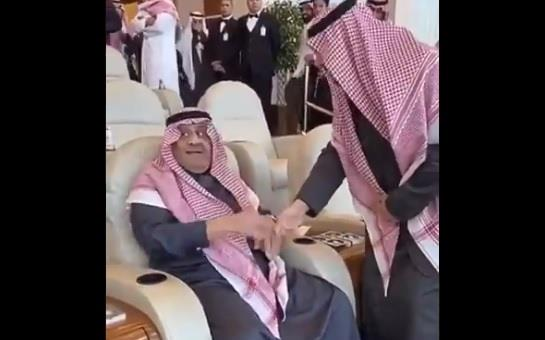 Prince Khalid bin Sultan jokes his son, Prince of the Northern Borders: