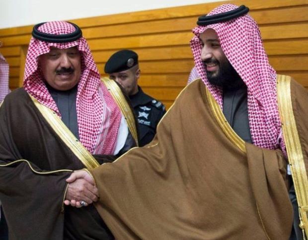 الأمير محمد بن سلمان والأمير متعب بن عبدالله