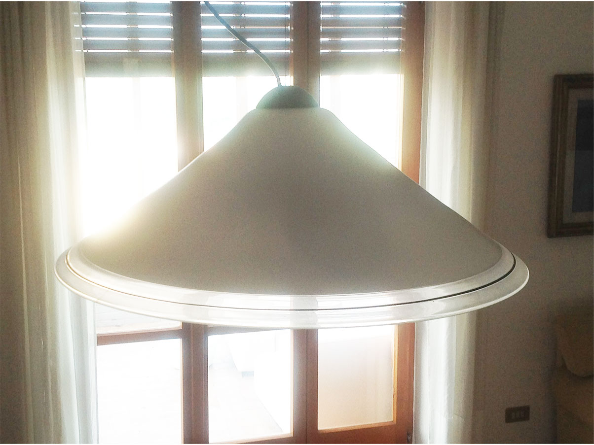 Lampada a sospensione vintage anni '60 con due applique in pendant. Lampadario Vetro Di Murano Anni 70 Itre Deesup