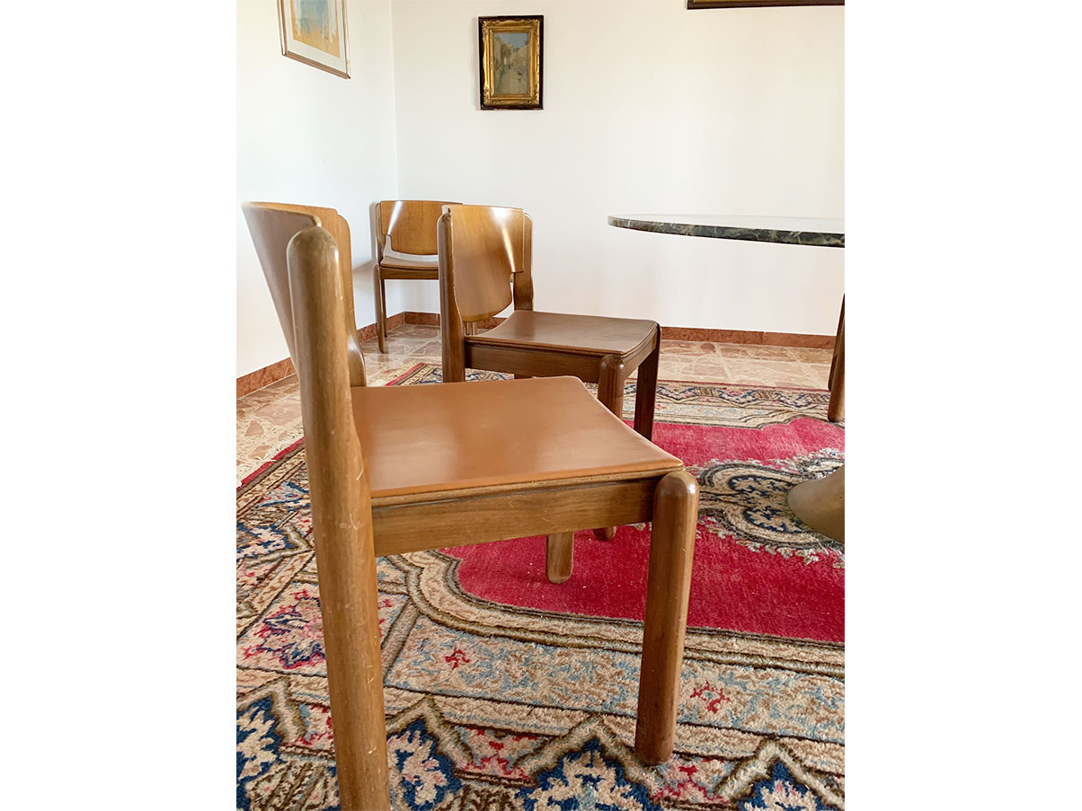 Set di 4 sedie anni '60 in legno di frassino, produzione italiana. Set 8 Sedie Anni 60 Cassina Deesup