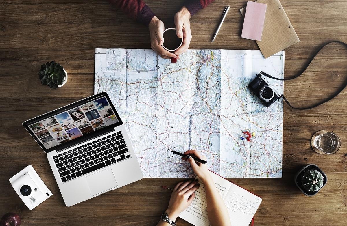 mapa organizar viaje ahorrar