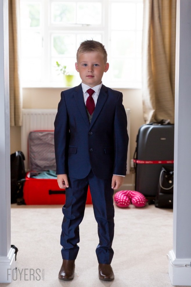 little Louie ready and waiting for the wedding to start