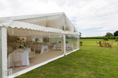 majestic marquee in a field just outside Binham