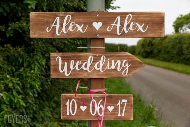 Alex and Alexs wedding sign