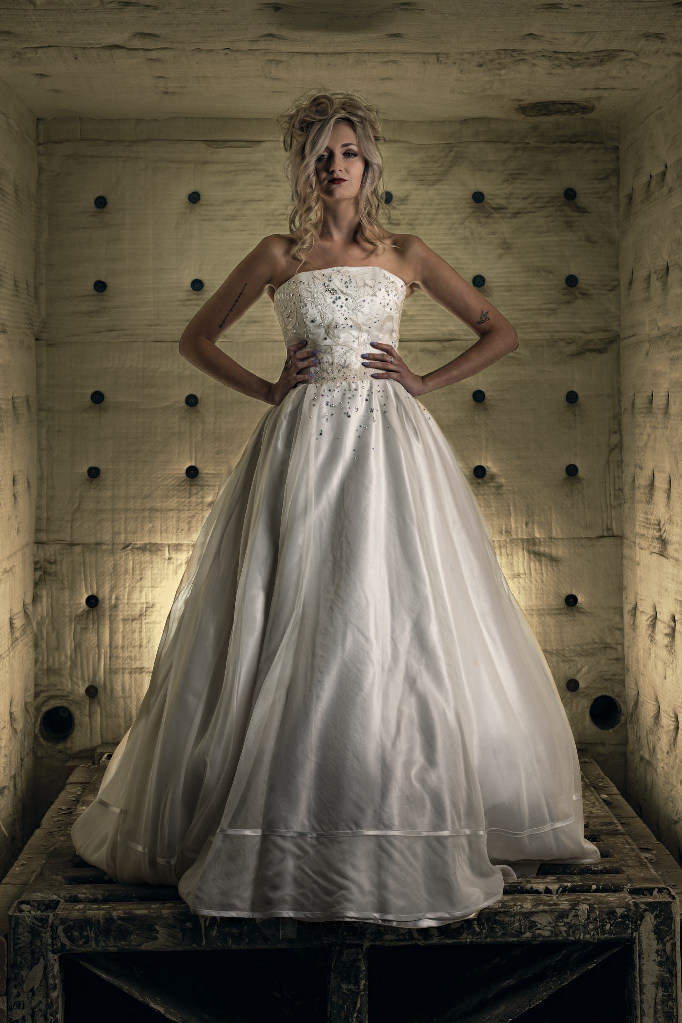 Martin Dobson Luxury bridal wear designer Silk organza dress with embroidery and Swarovski crystals
