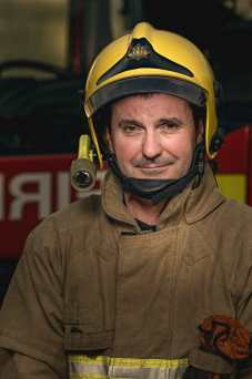 Firefighter Jon Ross, works at Sizewell B