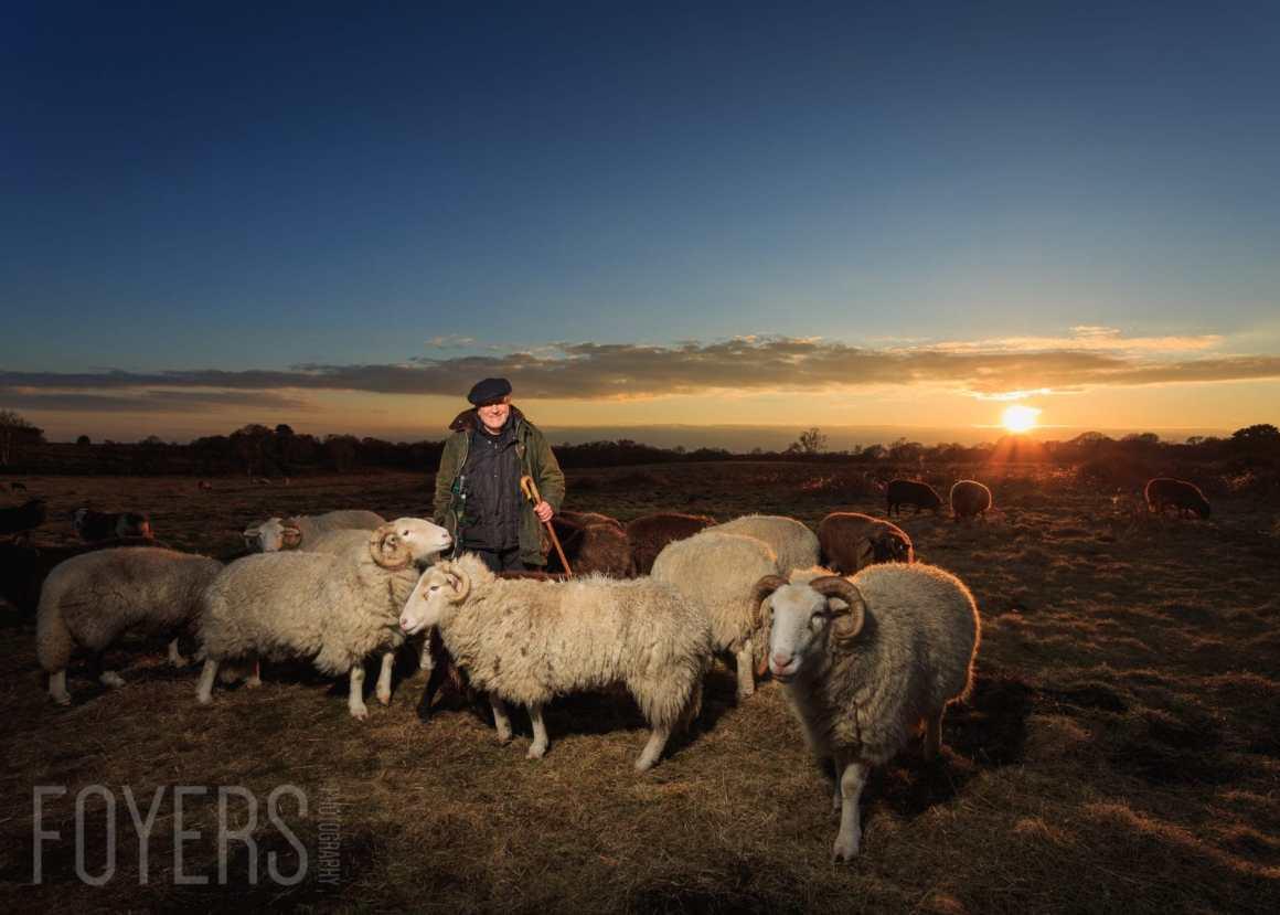 Portrait of a Shepherd on Snape Warren, Suffolk