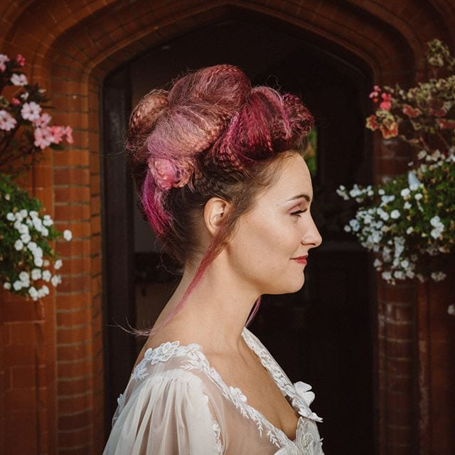 Amazing wedding hair was done by Mel and team from Innov8, Saxmundham for bridle dress photoshoot at Woodhall Manor with @martin_dobson_couture @innov8hair @woodhallmanor @faybulous7 7 . . . . .