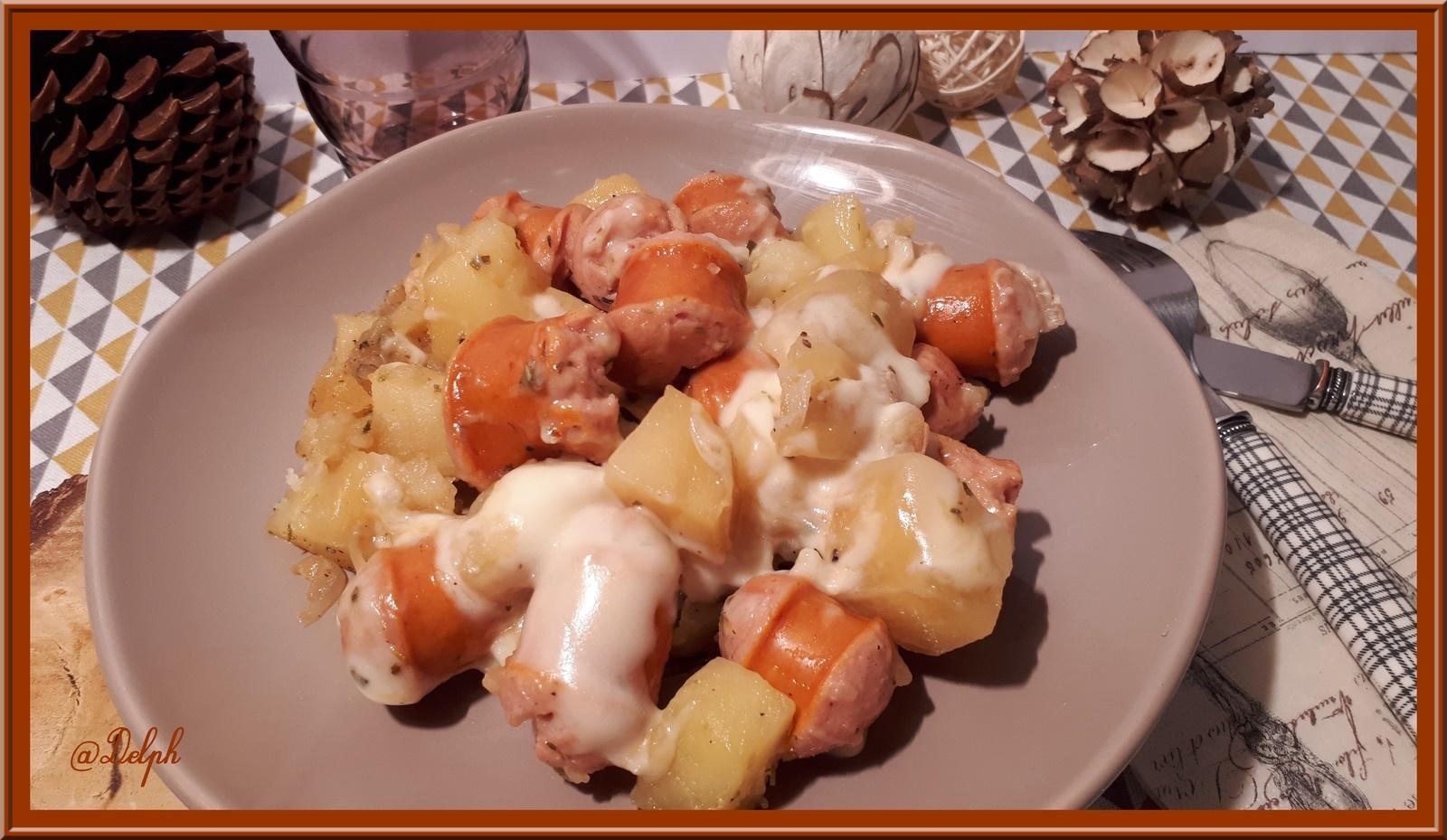 saucisses de francfort pommes de terre a la raclette