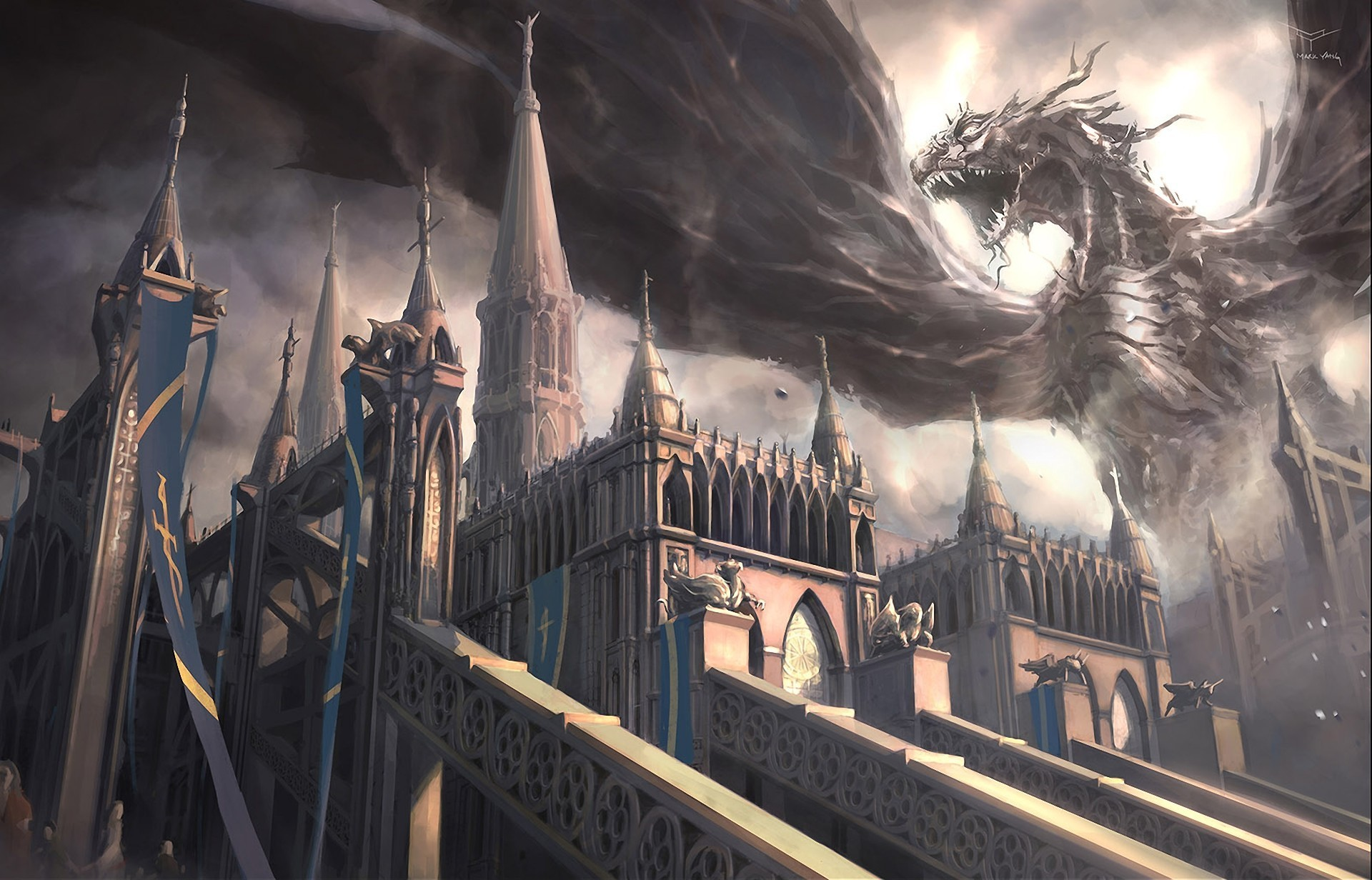 214 Fantasy Wallpapers Castles Sorcery Dragons And Maidens