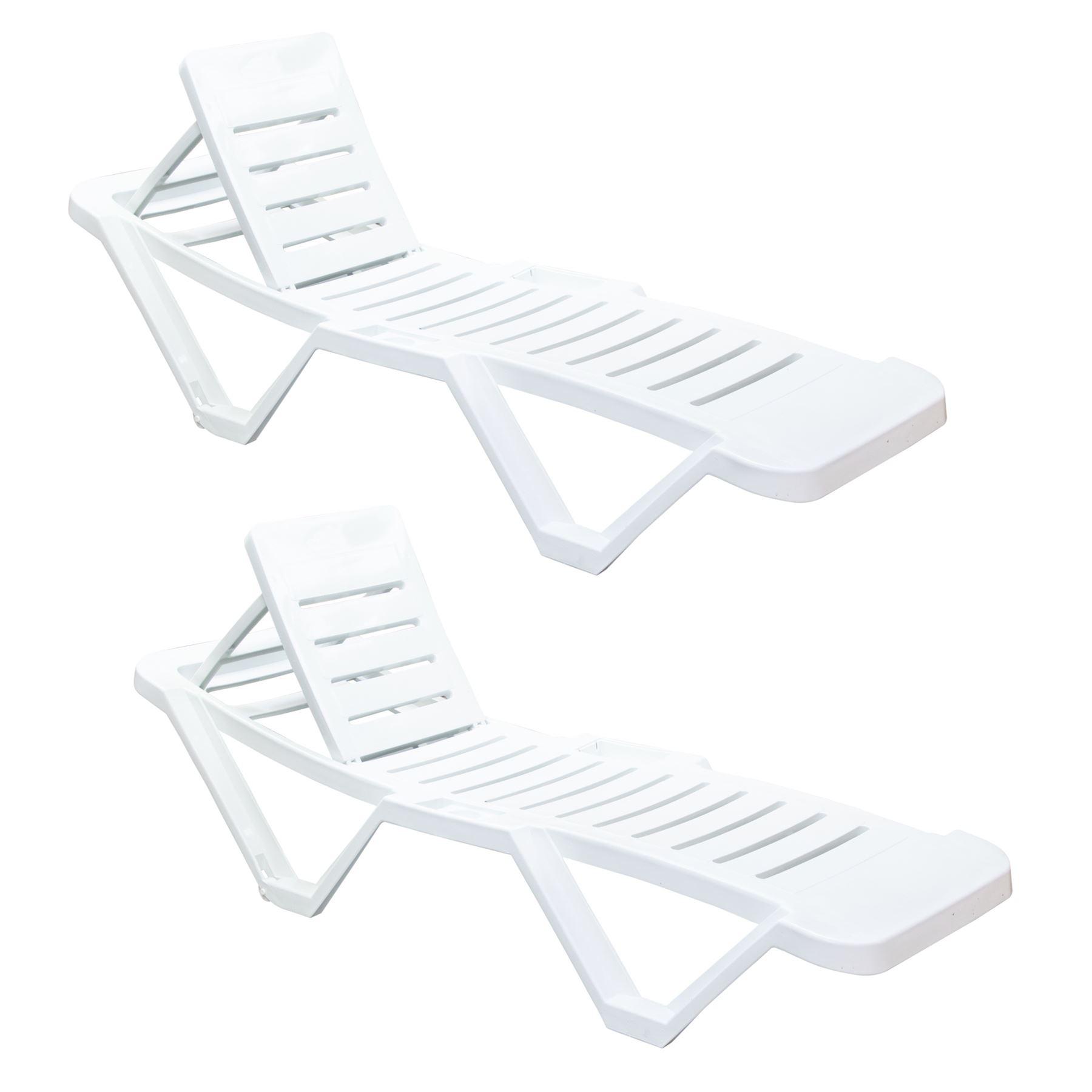 Resol Master Sun Lounger Outdoor Garden Recliner Bed