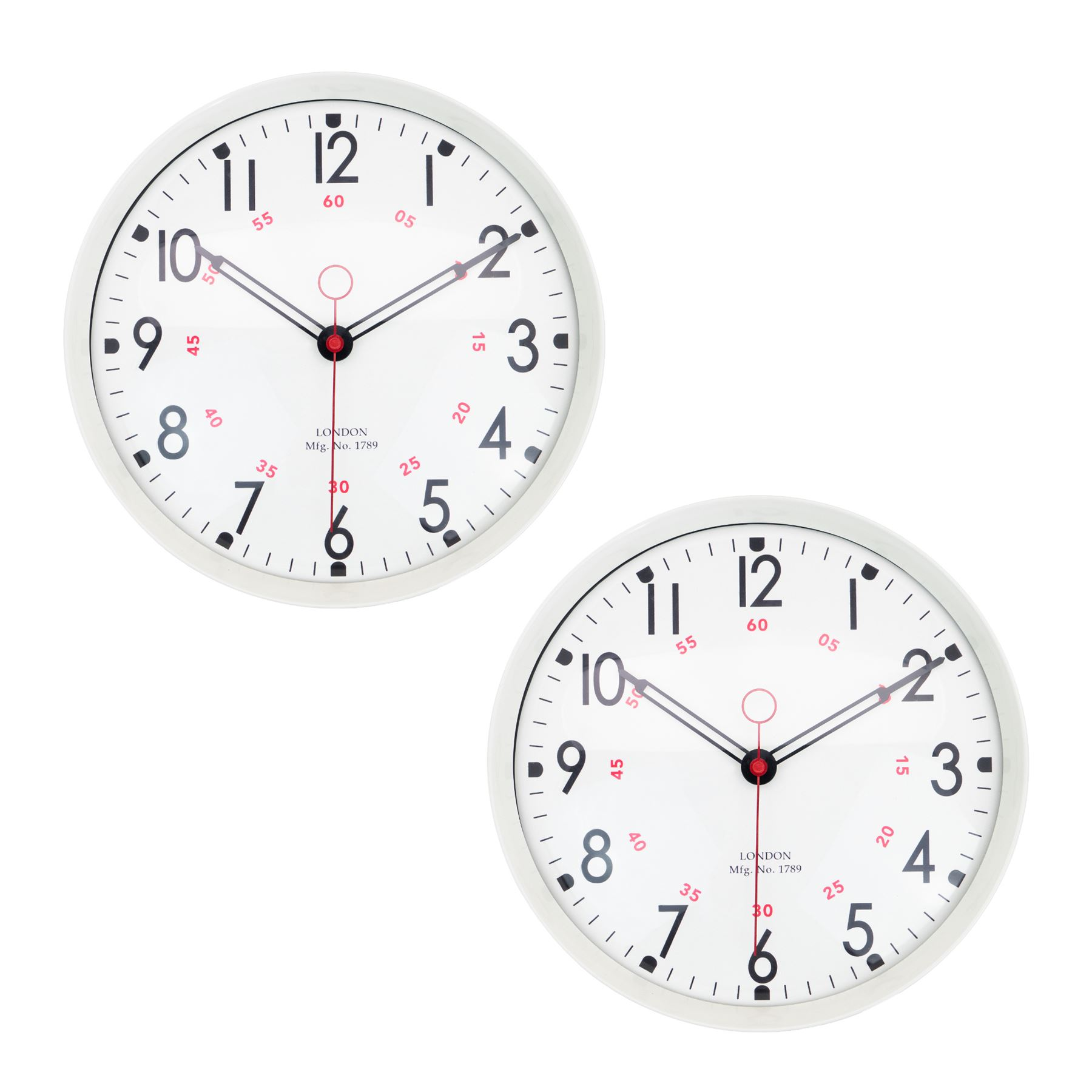 Metal Wall Clock Retro Large Round Home Office Bedroom