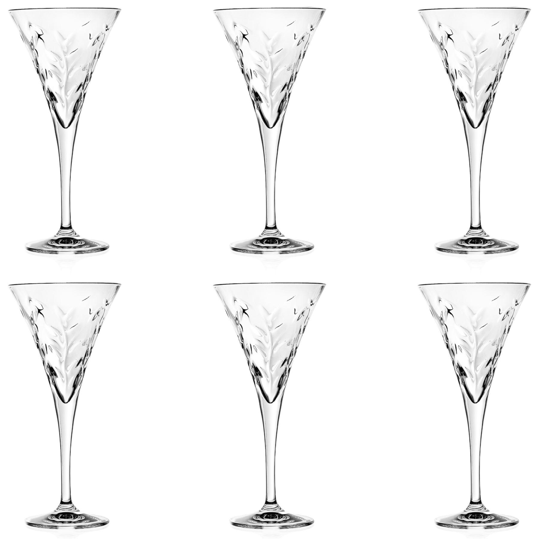 6x Laurus Cut Glass Wine Glasses