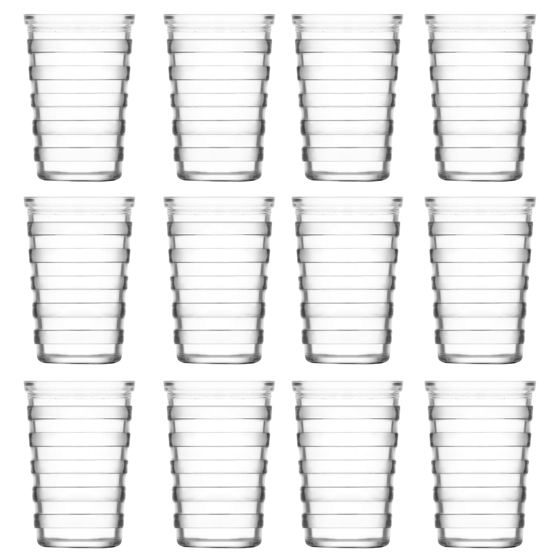 Stripe Water Whisky Juice Tumbler Drinking Glasses