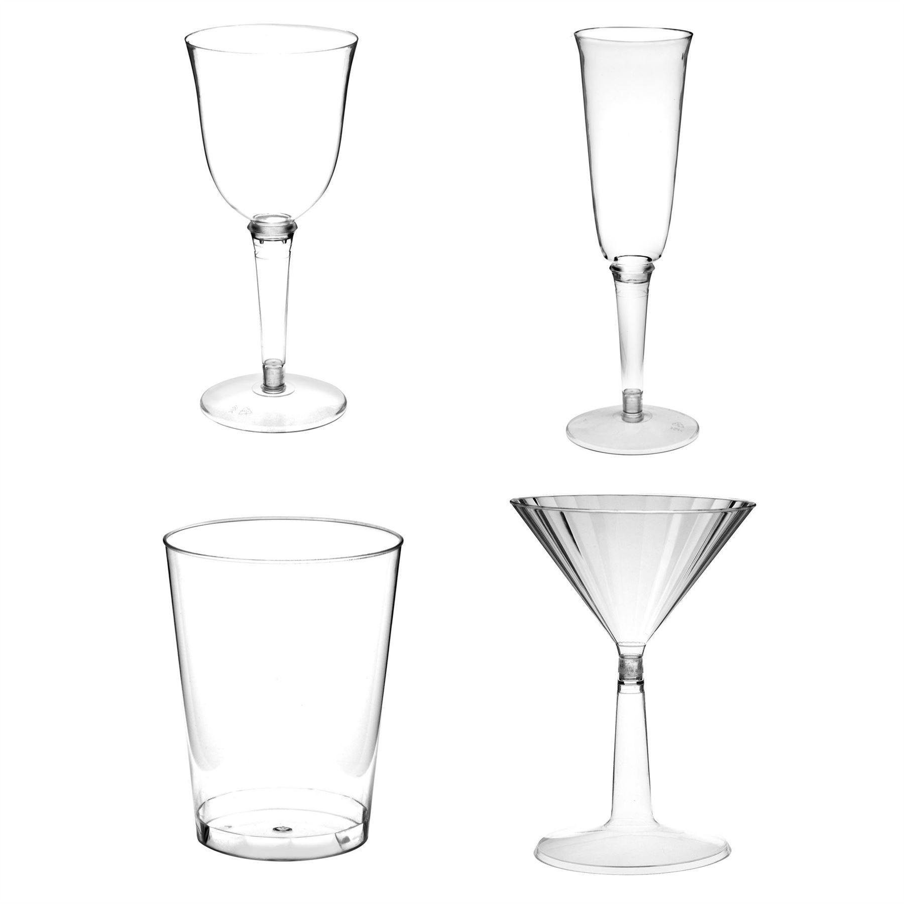 Plastic Hiball Tumblers Wine Glasses Champagne Amp Martini