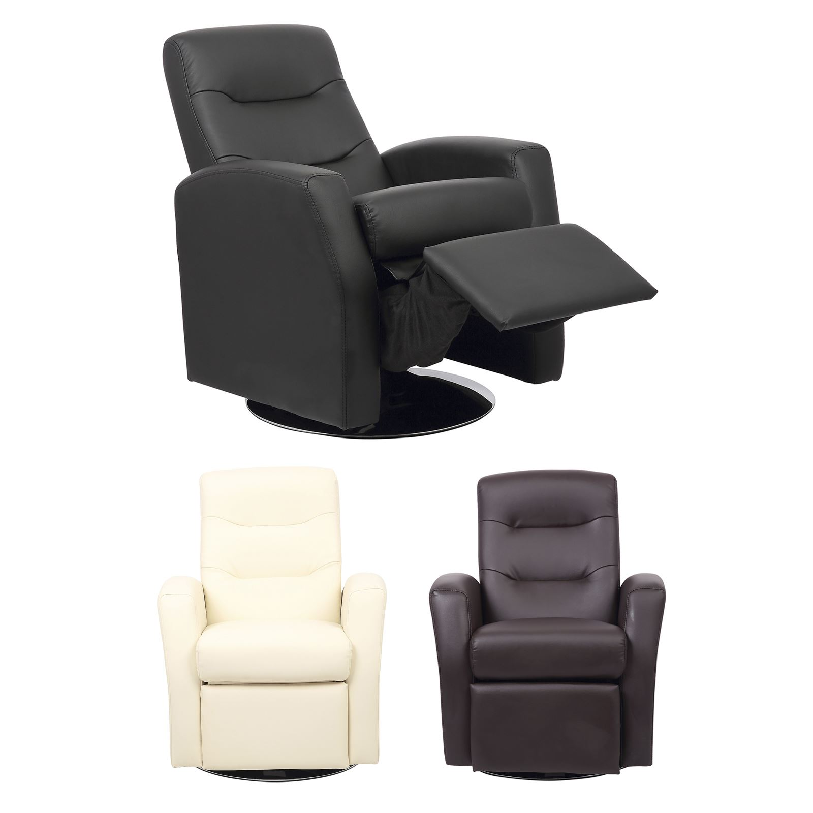 details about luxury kids reclining swivel chair childrens comfortable faux leather armchair