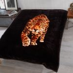 Animal Print Mink Faux Fur Sofa Throw Over Bed Spread Blanket Fleece 3 Size