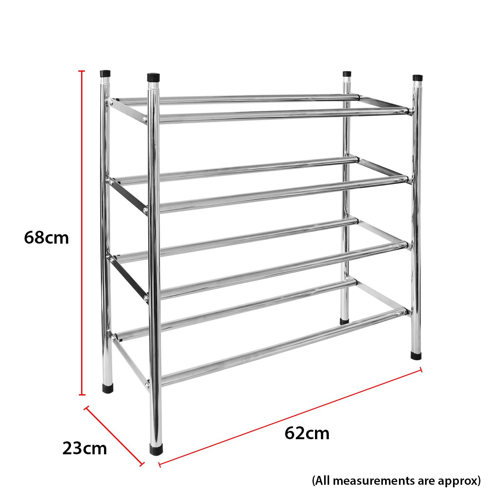 Chrome Extendable Stackable Shoe Rack Holder Organiser Storage Shelves Room Tidy