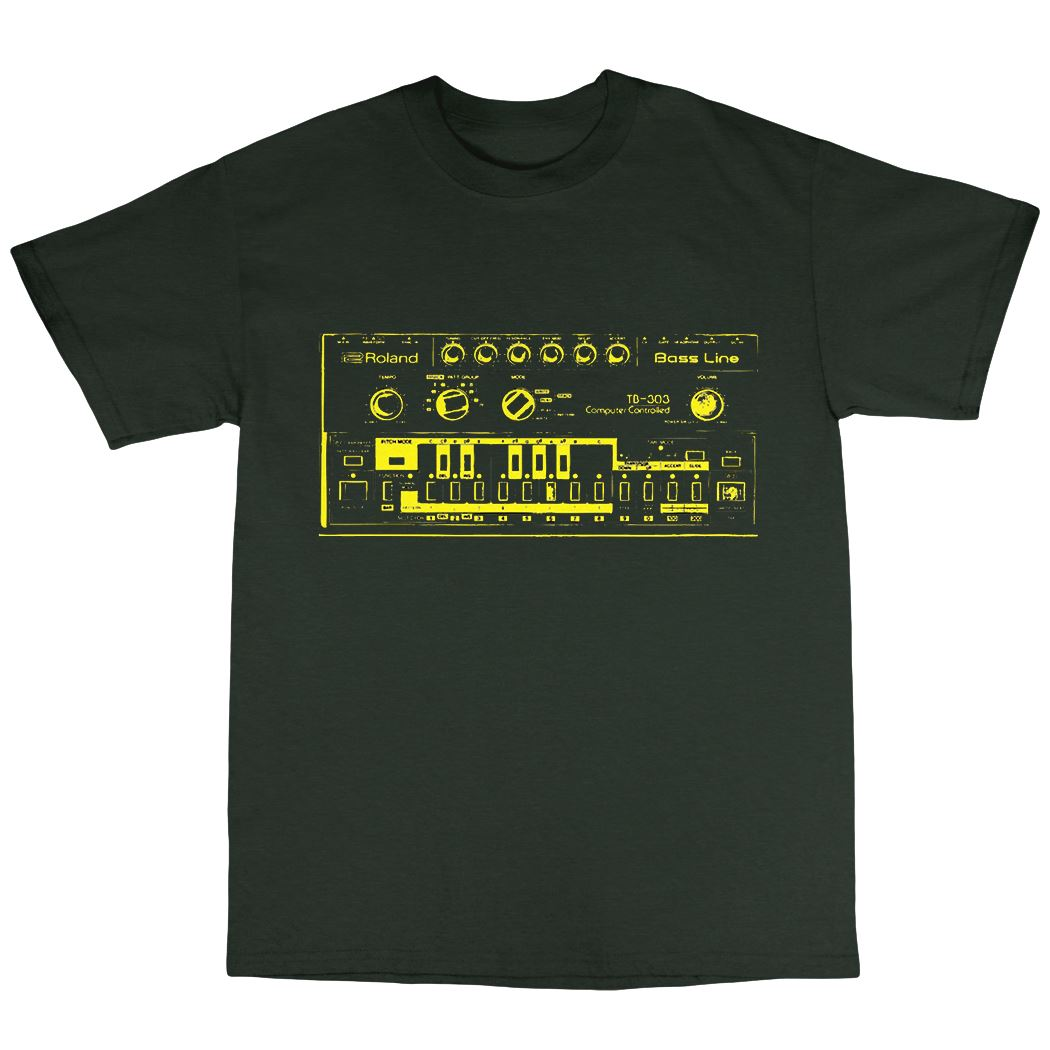 TB 303 Inspired T Shirt 100 Cotton Moog 808 909 Acid