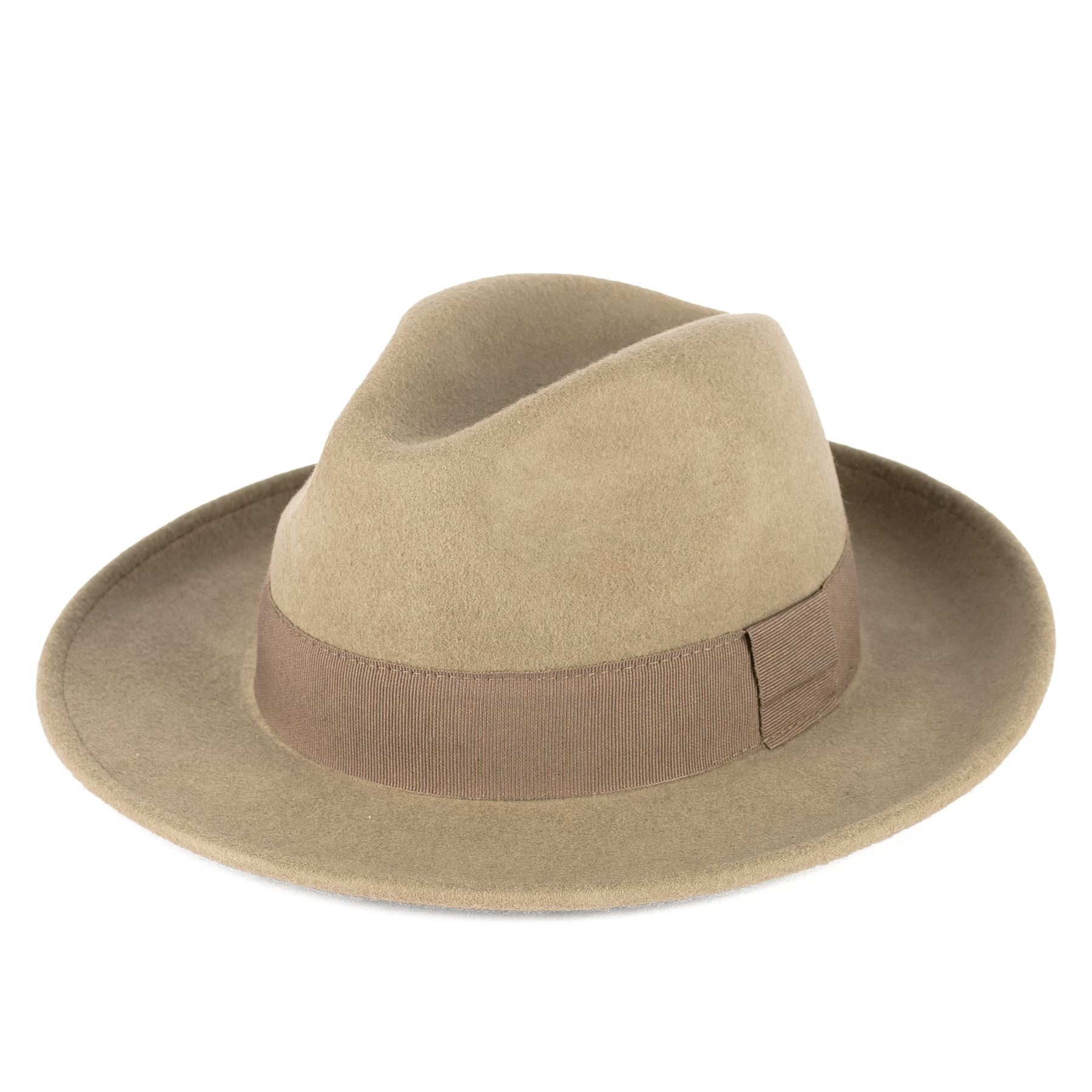 Mens Ladies Made In Italy 100 Wool Felt Fedora Hat
