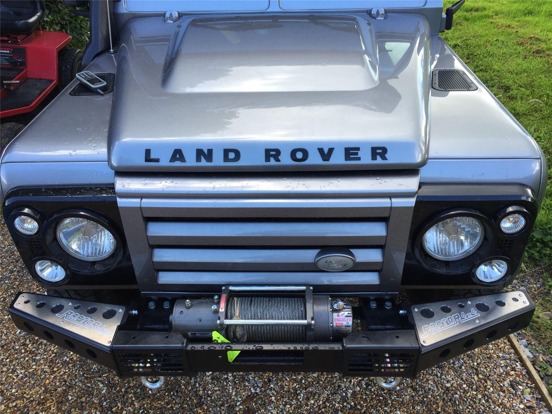 Raptor 4x4 Front Squared Winch Bumper Land Rover Defender 90 110