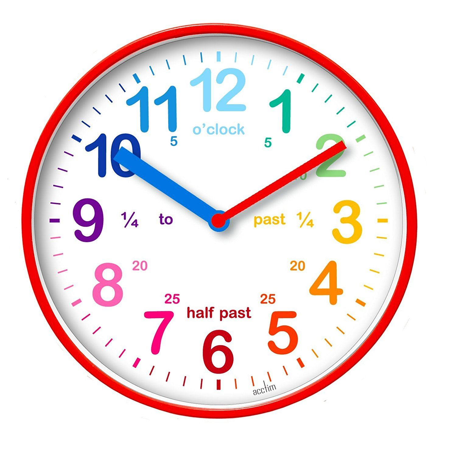 Acctim Wickford Kids Wall Clock Red 20cm Dial
