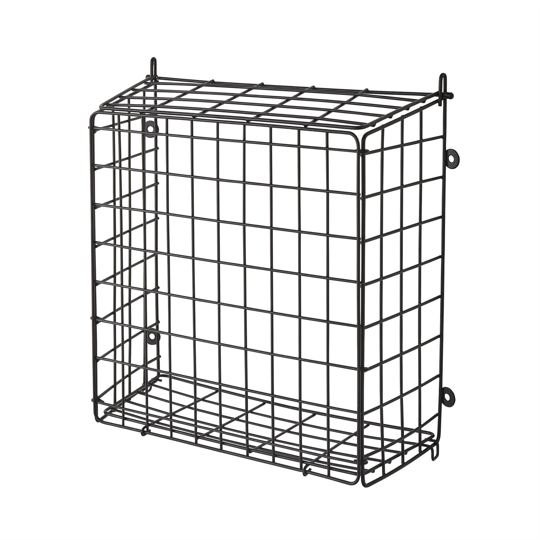 Black Front Door Letter Box Cage Post Mail Catcher Guard
