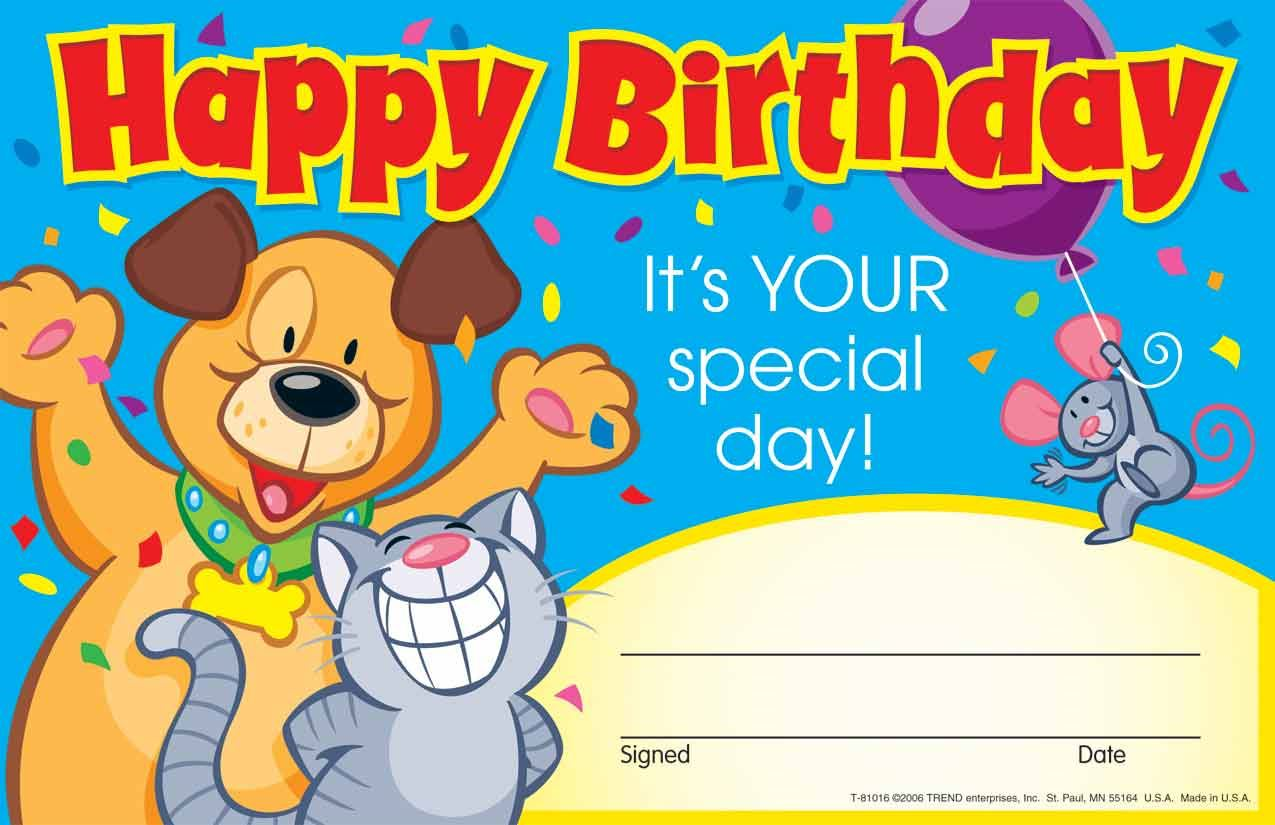 30 Kids Happy Birthday Its Your Special Day Award