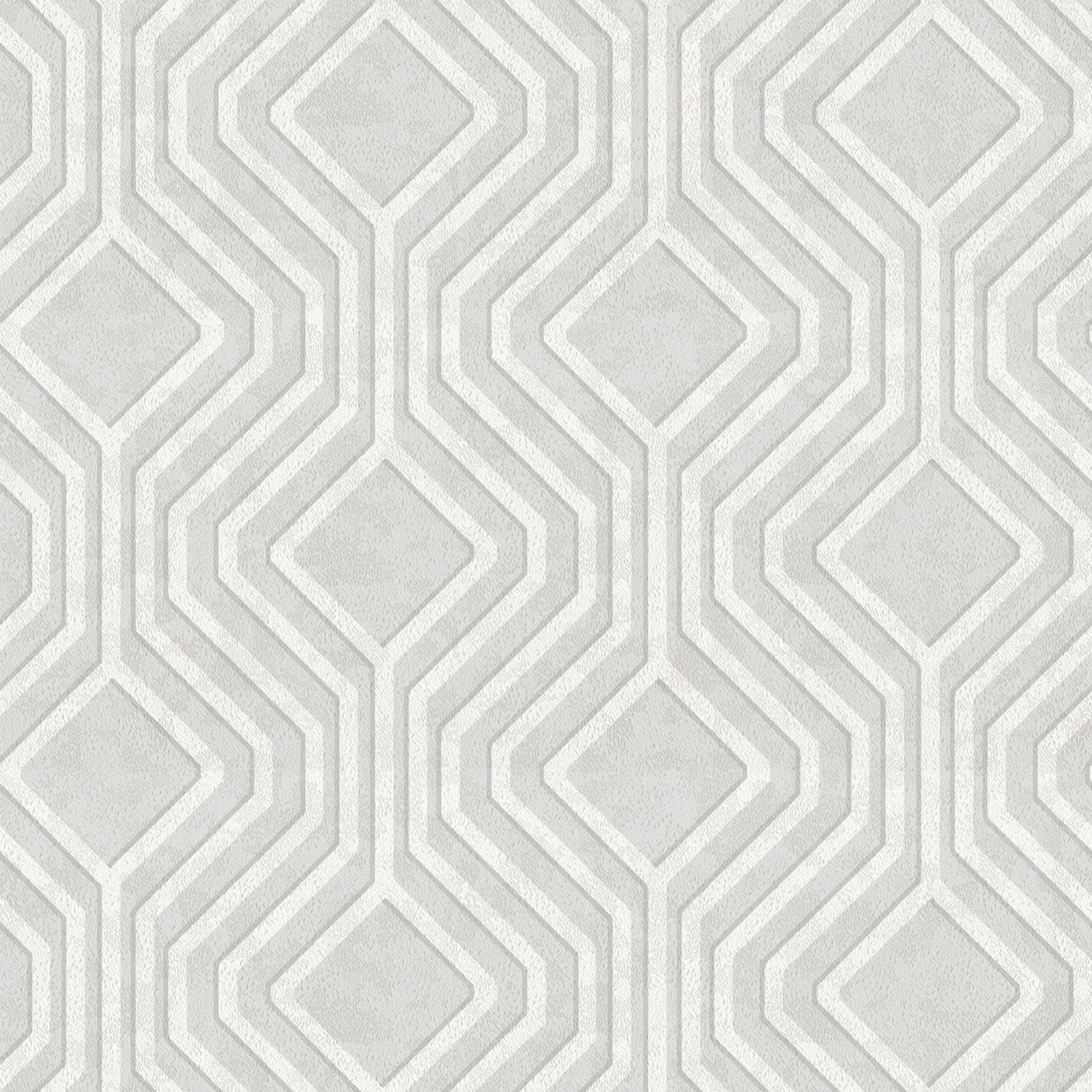 Grey Silver Wallpaper Patterned