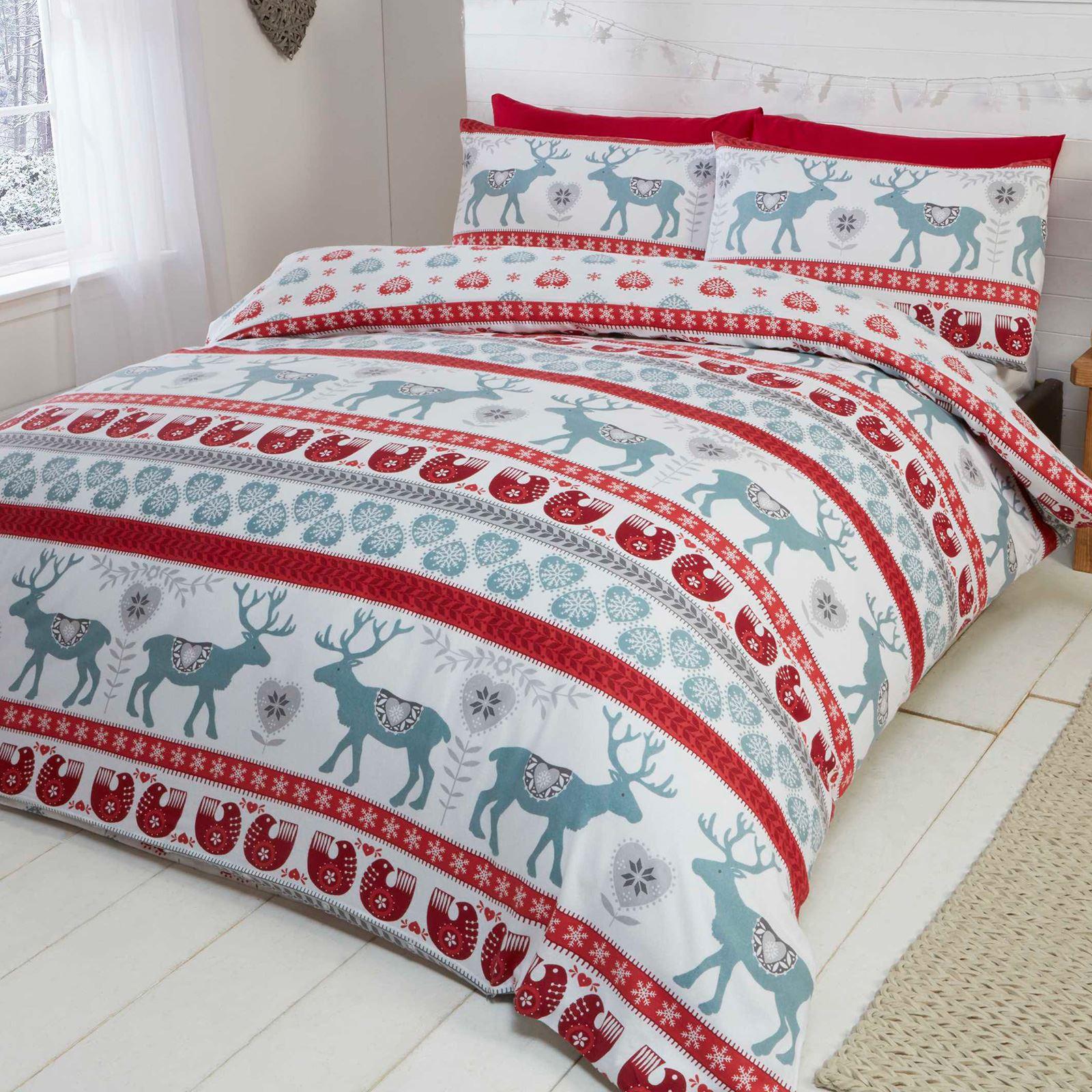 Christmas Festive Duvet Cover Sets Bedding Adults