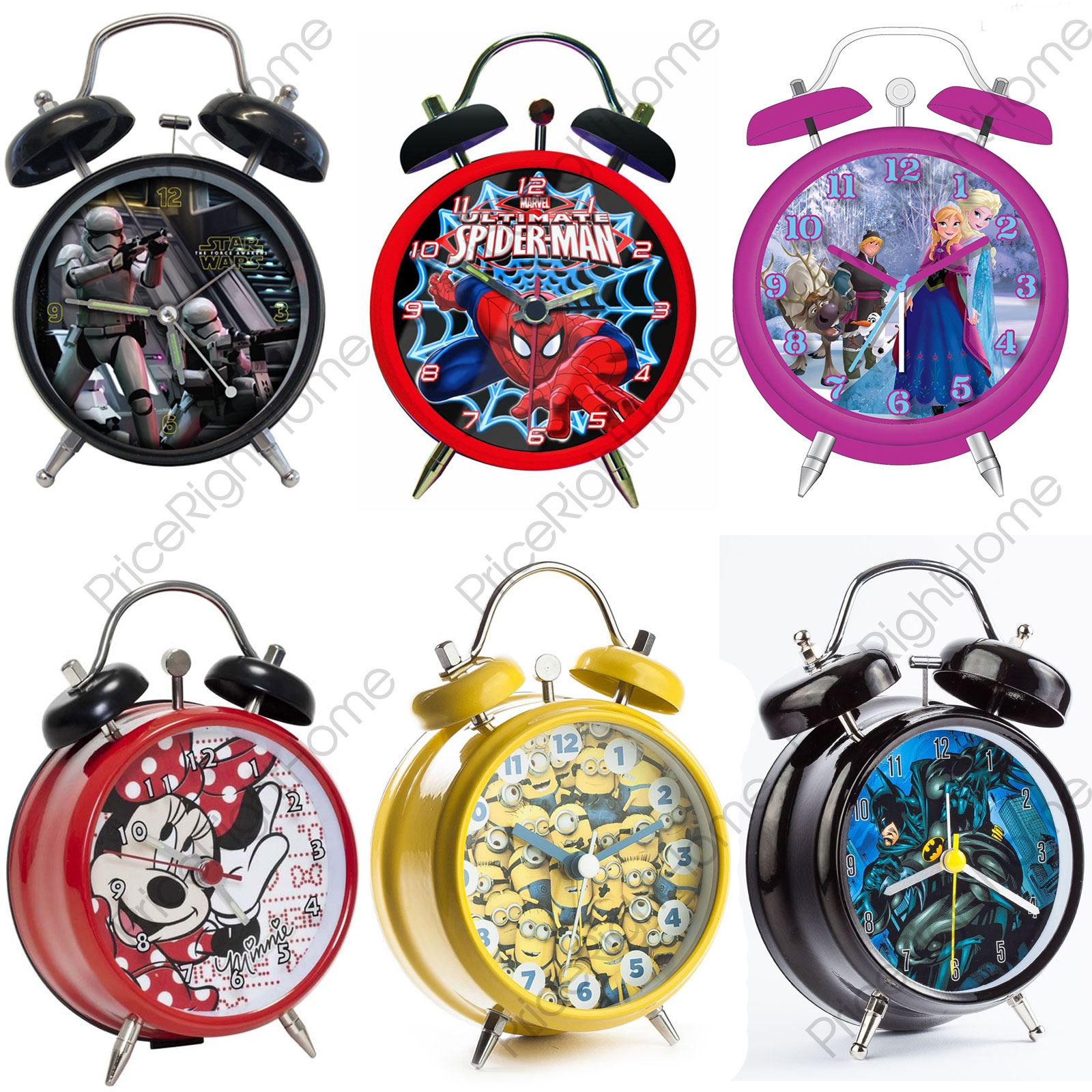 Character Mini Twin Bell Alarm Clock