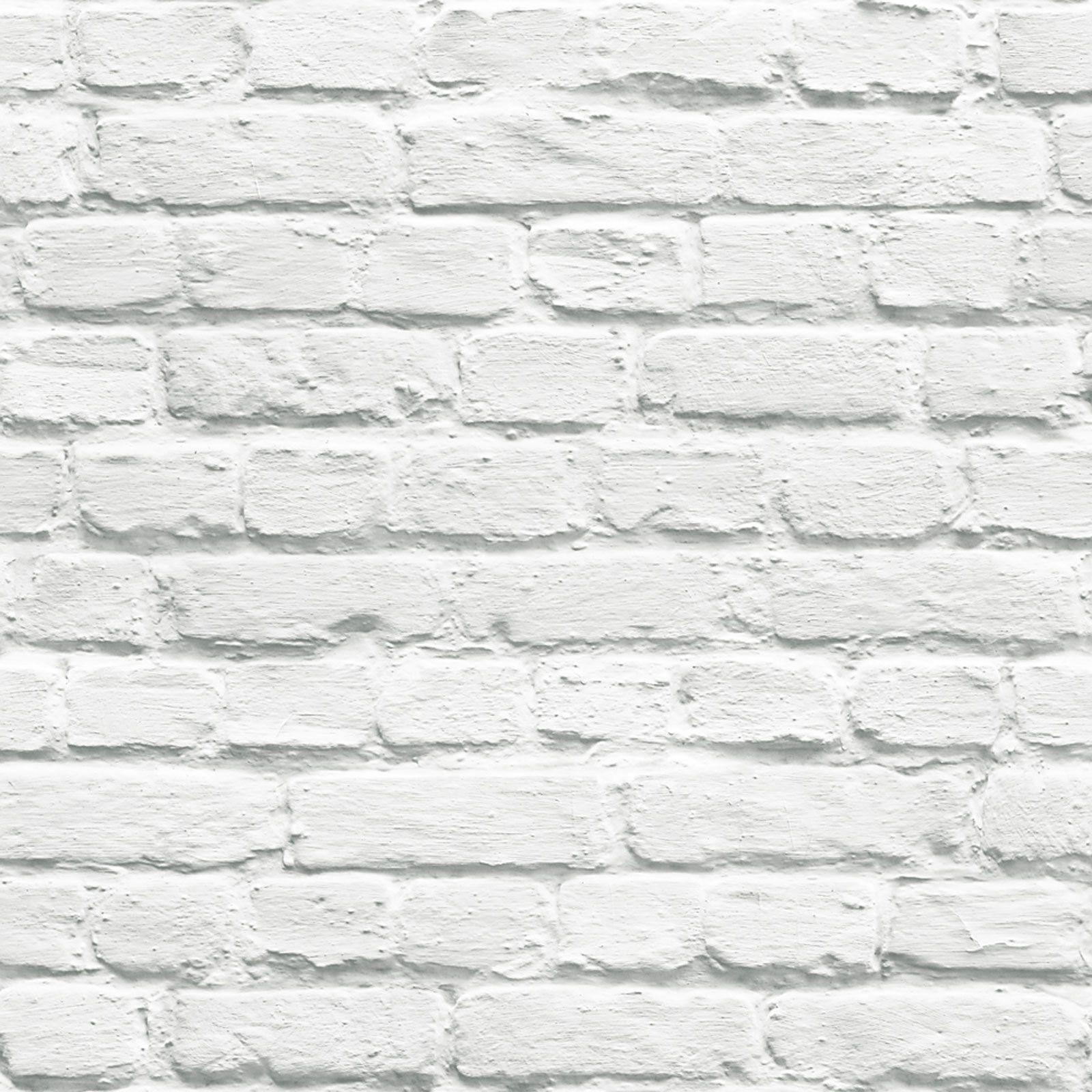 White Brick Effect Wallpaper