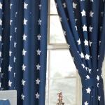 Navy Blue White Stars Lined Curtains Kids Bedroom 66in X 54in 168cm X 137cm 5027491292757 Ebay