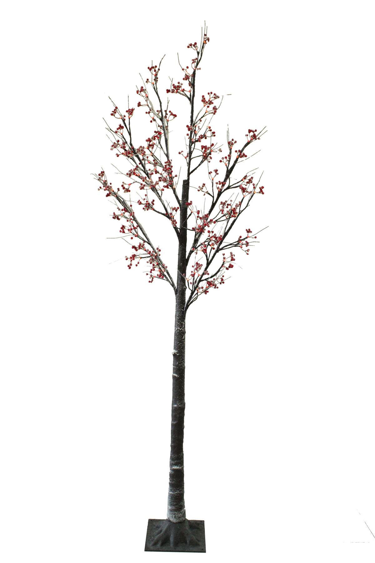 7ft Christmas Berry Twig Tree Pre Lit Led Warm White