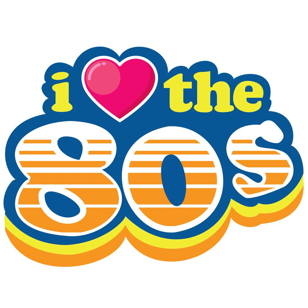 Download I Love The 80s Heart 1980s Classic Iron On Heat T-Shirt ...