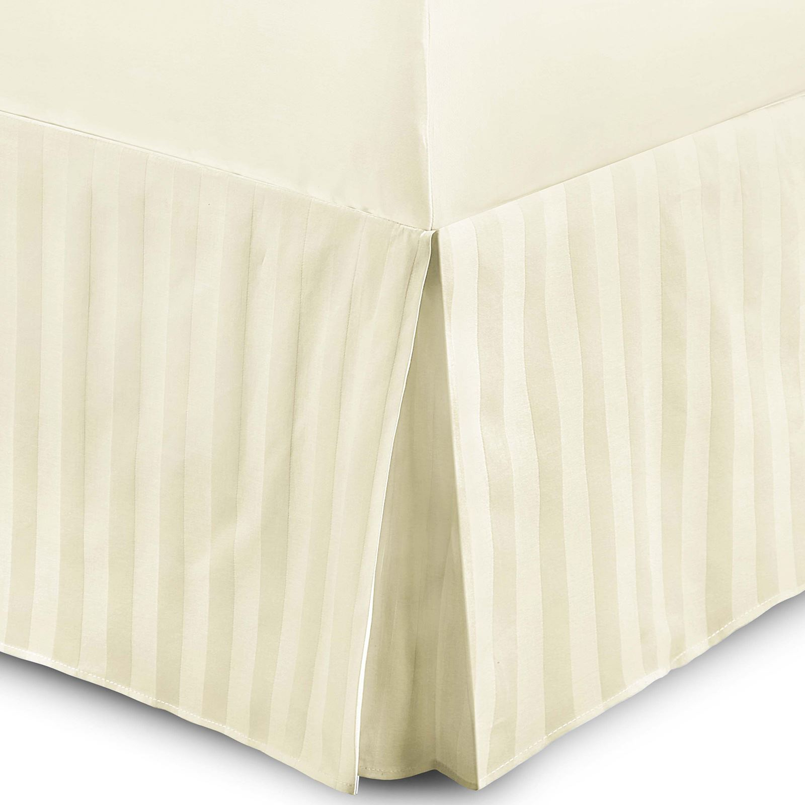 T230 Egyptian Cotton Striped Satin Base Valance Sheet
