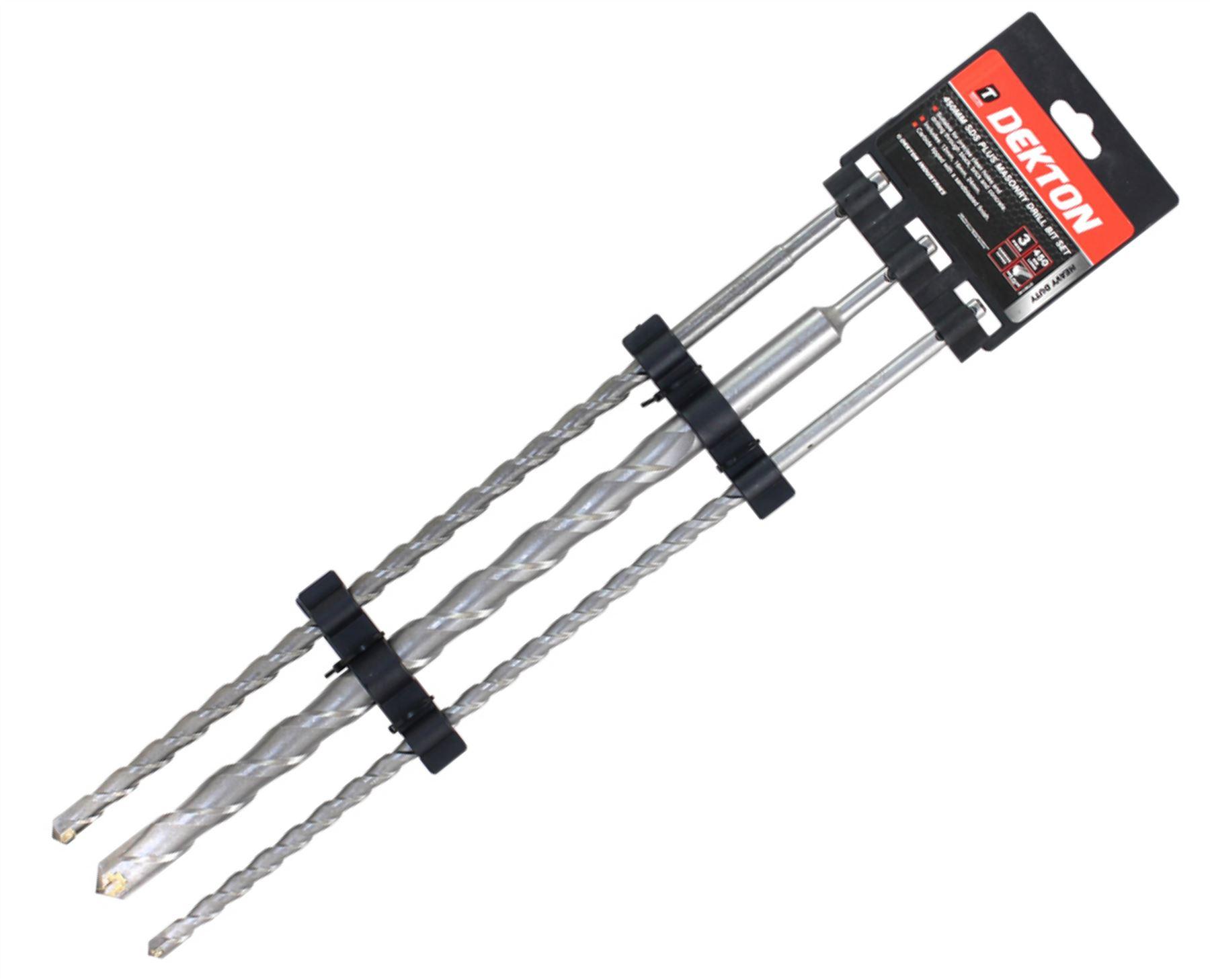 Dekton 3 Sds Plus Hammer Drill Bits 12mm 16mm Amp 24mm X