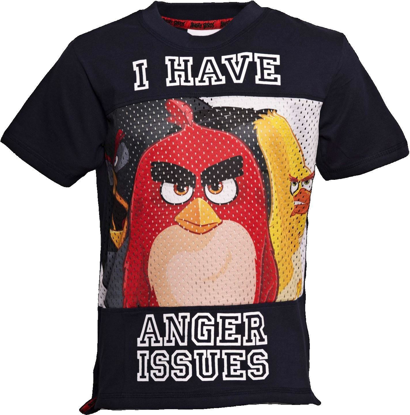 Anger Issues Angry Birds Baseball Style T Shirt Age 5 6