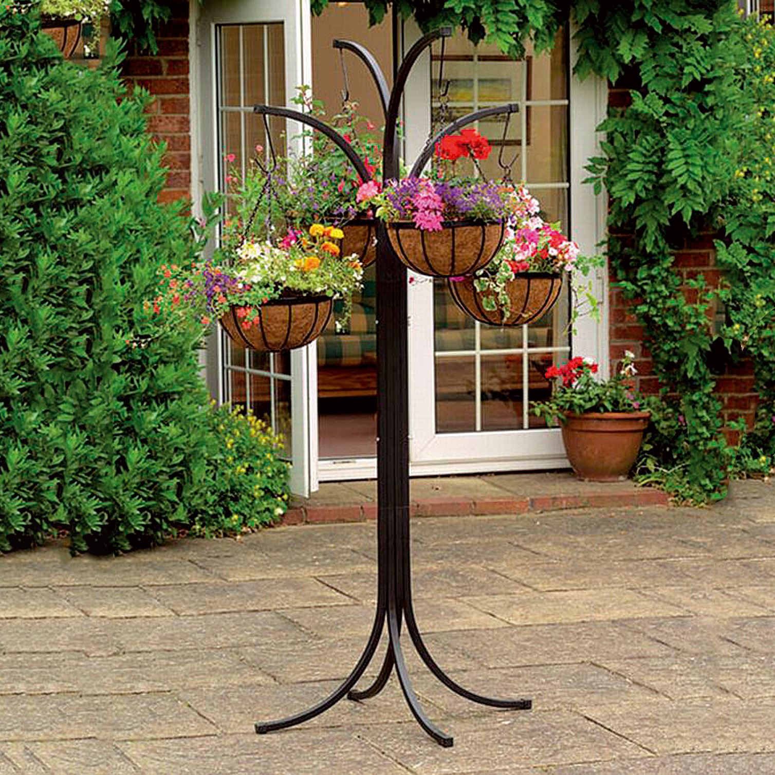 4 Arm Tree Cascade Hanging Basket Patio Stand Garden Plant ... on Hanging Plants Stand Design  id=40049