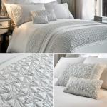 White Duvet Covers Satin Sequin Sparkle Glamour Luxury Quilt Cover Bedding Sets Ebay