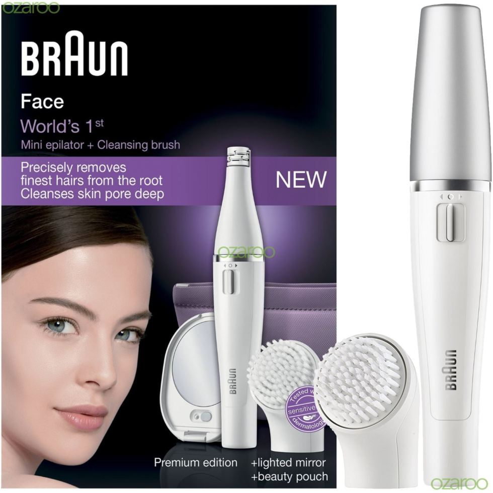 Image result for Braun Face 830 Premium Edition - Facial Epilator & Facial Cleansing Brush