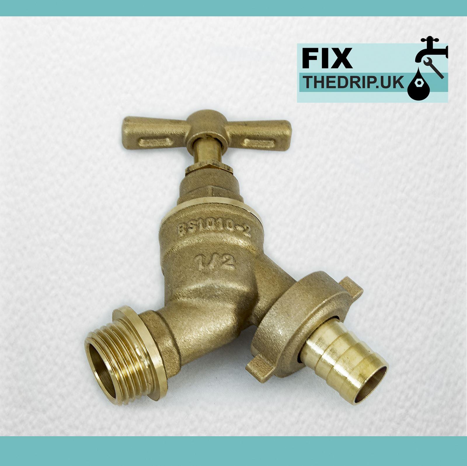 details sur exterieur robinet kit avec plaque murale coude jardin tuyau fixation