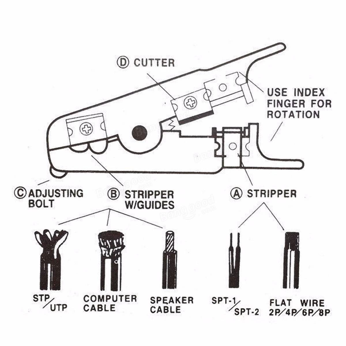 Rj45 Ethernet Network Kit Cable Crimping Crimper Stripper