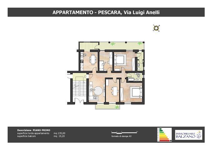 Appartamento In Via Luigi Anelli 130 Mq Pescara